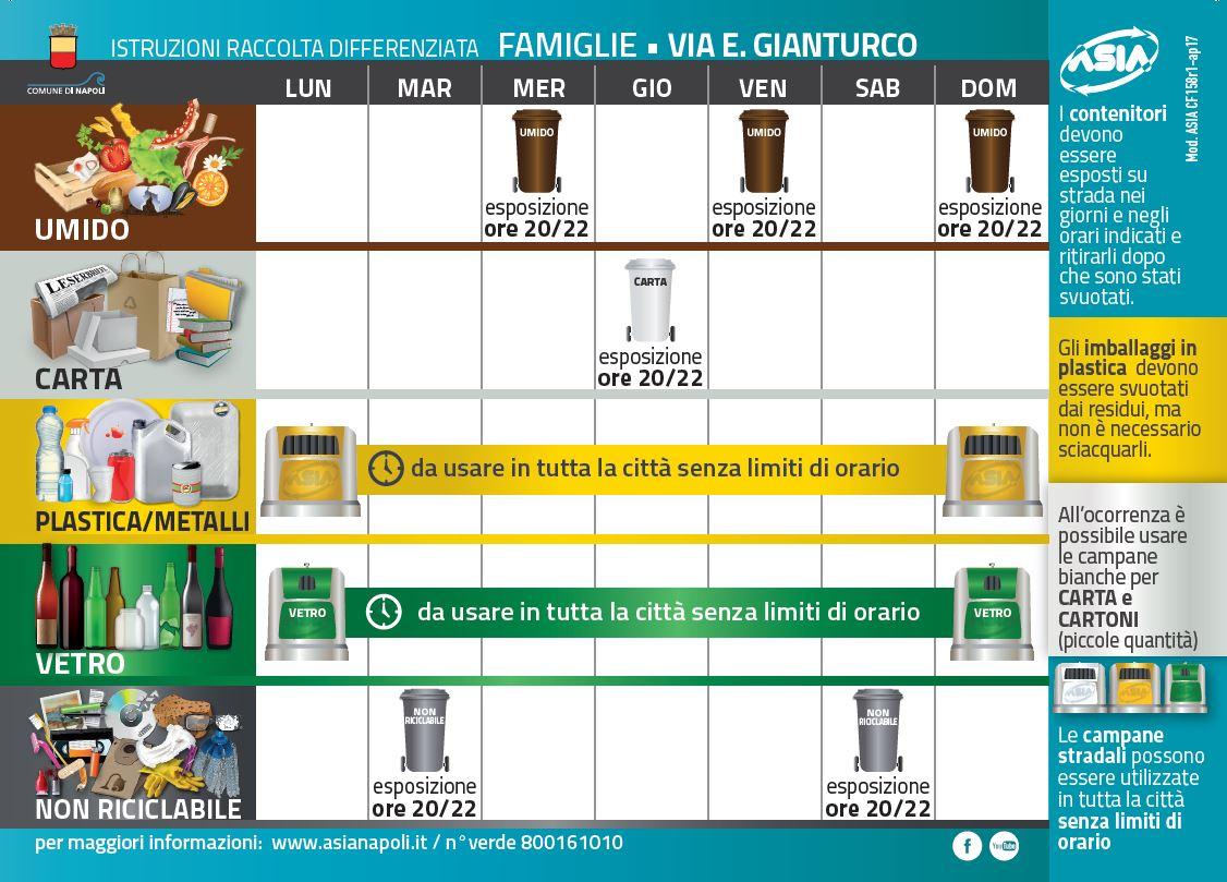 Calendario Raccolta Differenziata Napoli.Asia Napoli Comunicazione 04 2017