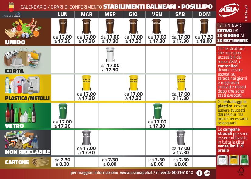 Calendario Raccolta Differenziata Napoli.Asia Napoli Comunicazione 11 2017